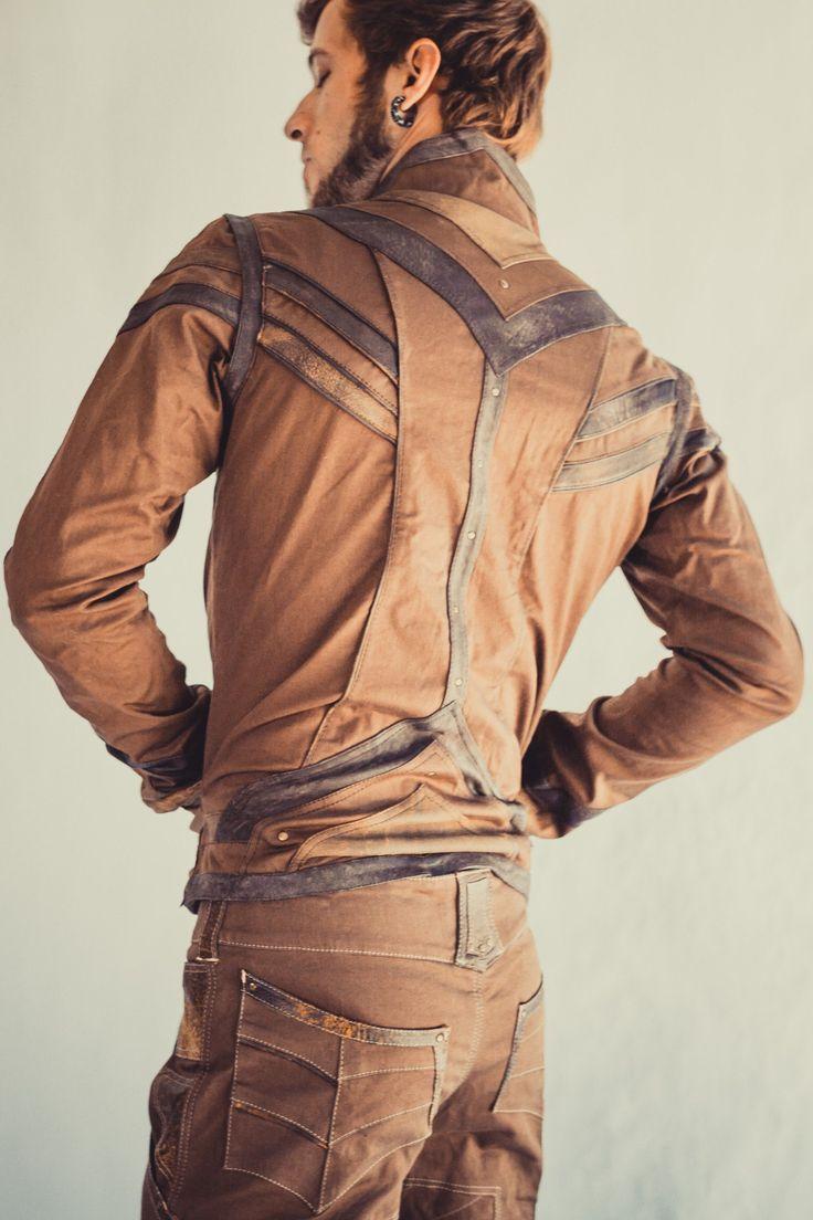 Taurid stretch denim mens cut jacket