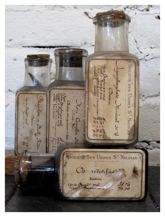 French Specimen Bottles. 1800s.