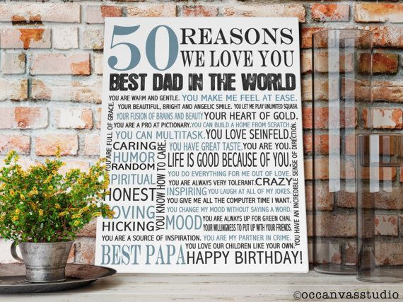 Personalized Birthday Gift 50 REASONS we Love by OCCanvasStudio