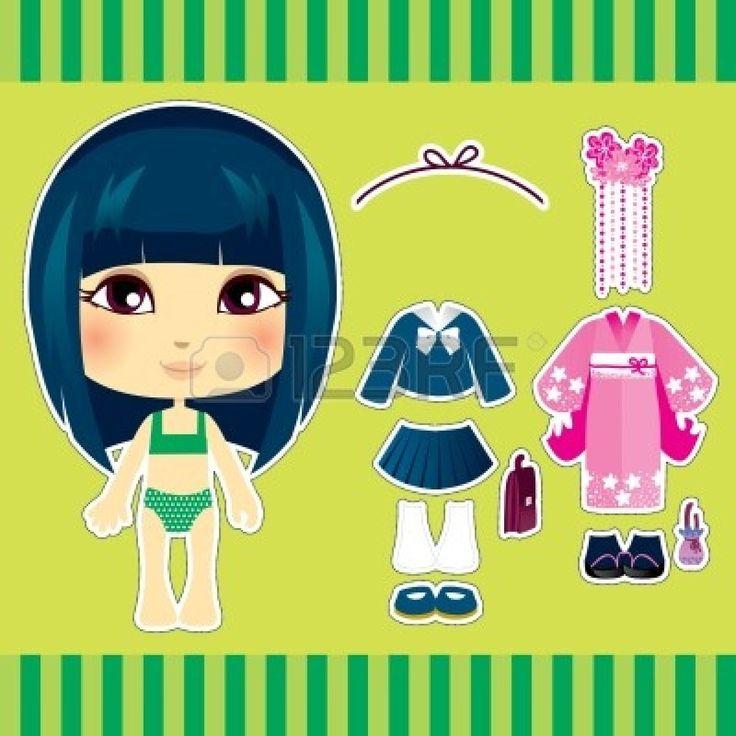 Lief en schattig Japanse mode meisje kleding collectie set photo