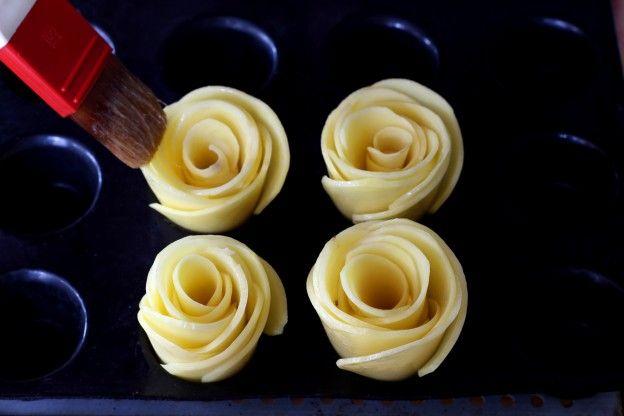 """Diaporama """"Comment faire des roses de pommes de terre ?"""" - Beurez"""