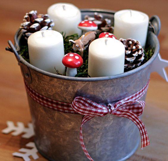 Kerzen im Eimer