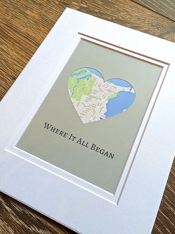 Where It All Began – 1st Anniversary Gift , Long Distance Relationship Gift – Vday Gift for Boyfriend or Girlfriend – #1st #Anniversary #Began #Boyfri…