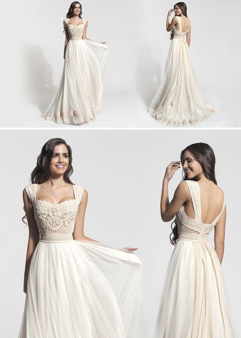 17 best Boho wedding dresses images on Pinterest | Gown wedding ...