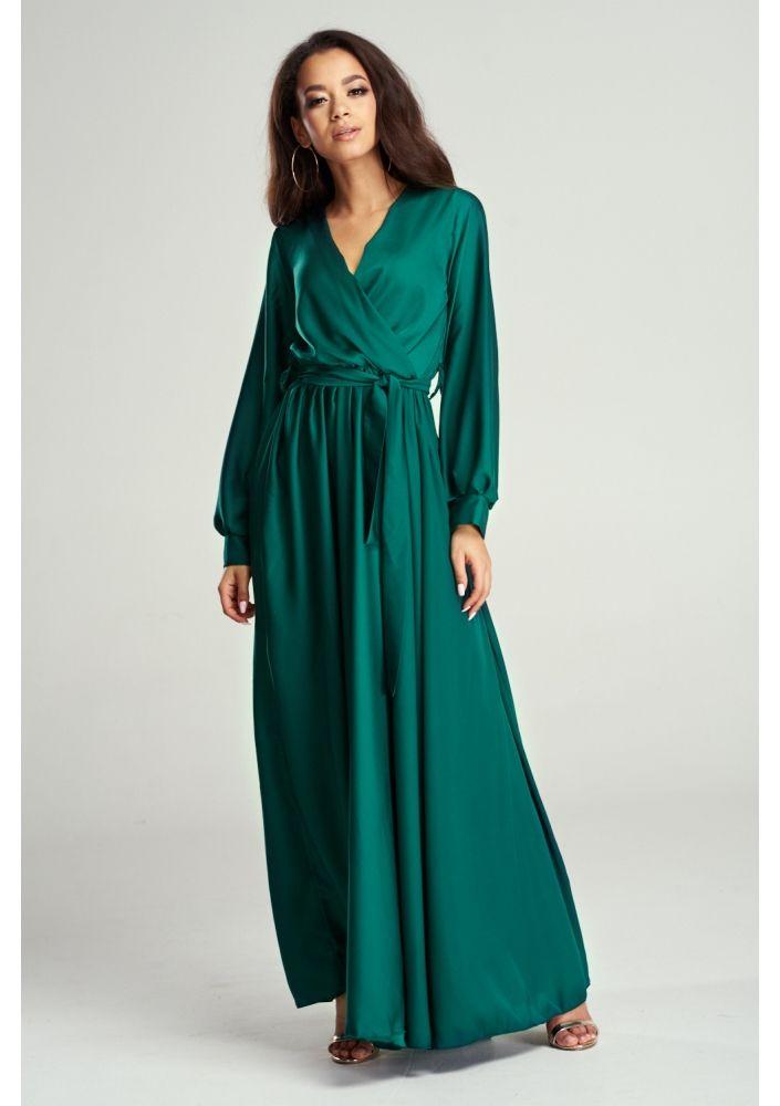 Sukienka Maxi Z Satyny Mosquito Maxi Dress Long Sleeve Dress Dresses