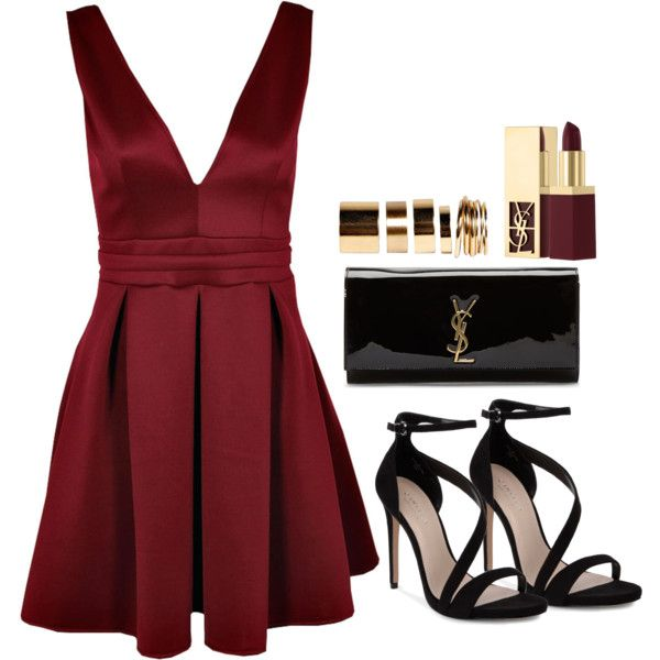 A fashion look from October 2014 featuring Boohoo dresses, Carvela sandals and Yves Saint Laurent clutches. Browse and shop related looks.