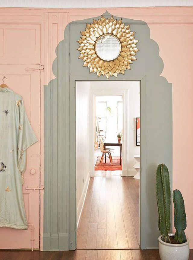 Rose Quartz Painted Doorshallway Ideasgold Wall