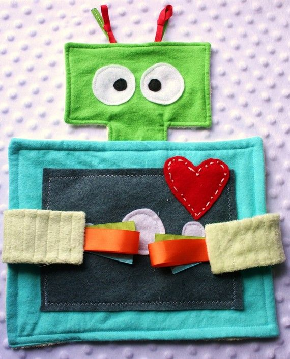 Alfie the Robot Lovey Baby Blanket Toy made to by lovefromnora, $20.00