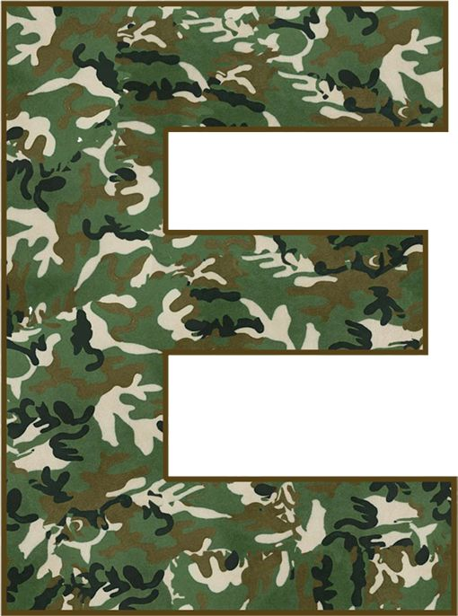 CH.B * * MILITAR. | Alphabet Sets | Army birthday parties ...