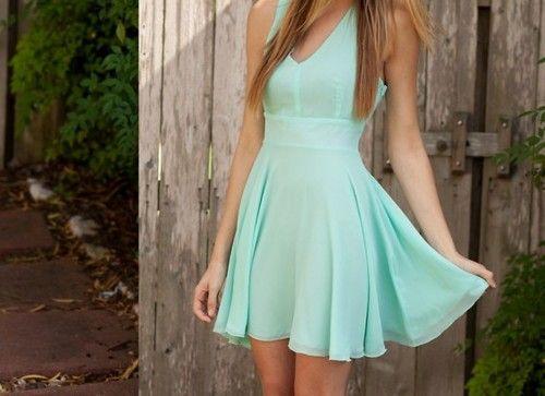 Minty teal dress