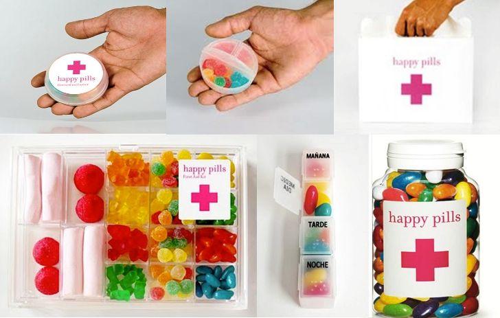 Happy pills : des bonbons gélifiés aux pilules du bonheur