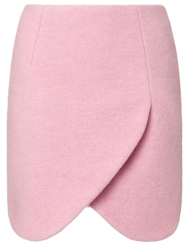 Pink Crushed Wool Skirt | Carven | Avenue32