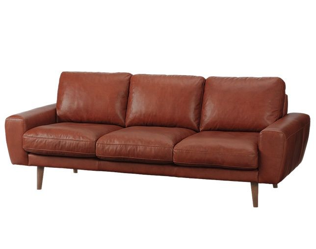 unico MOLN leather sofa 3 seaterのメイン写真