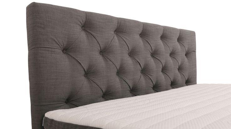 Grå djuphäftad sänggavel. Dubbelsäng, säng, gavel, sovrum, inredning. http://sweef.se/sangar/224-sanggavel-djuphaftad-vagghangd.html