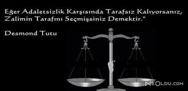 adalet hakkin gozetilmesi ve yerine