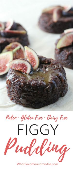 Paleo, Gluten Free Figgy Pudding is a delicious holiday dessert! via @whatggmaate