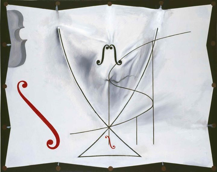 La Queue d'aronde (Jaskółczy ogon), 1983 olej, płótno; 73x92,2 cm  Ostatni obraz Salvadora.  #salvadordali #salvadordalipolska