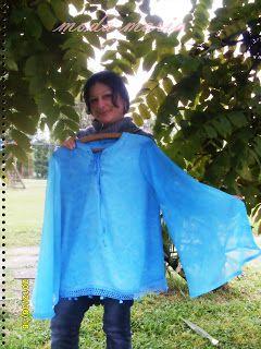 moda maria: blusa azul mangas mariposa,campana.1 parte :)