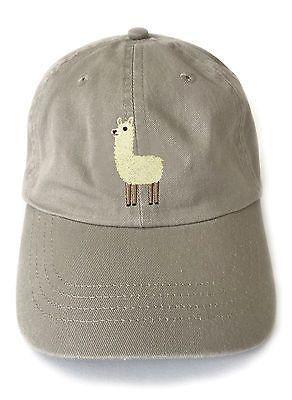 Llama embroidered baseball cap