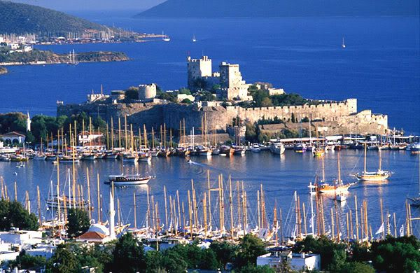 "Bodrum Castle, Bodrum, Turkey  Formerly known as the ""Castle of Saint Peter,"" this castle was built by crusaders starting in 1402."