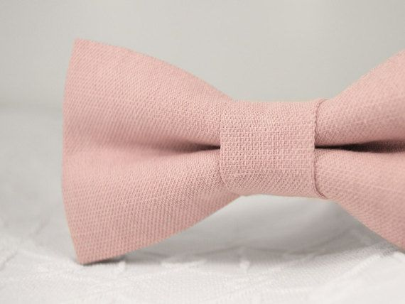 Dusty rose bow tie dusty pink bow tie wedding by MrFoxBowTies