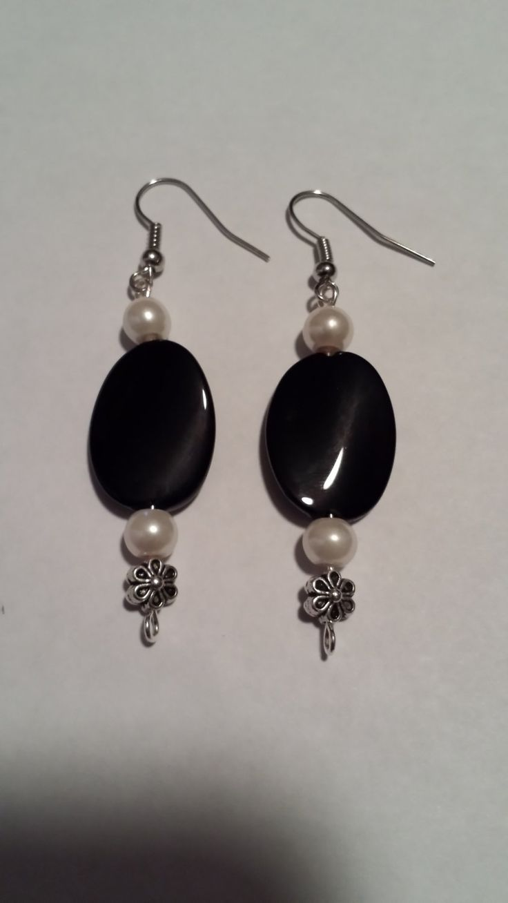 Black with a Touch of Pearl by Sounique2013 on Etsy, $6.00