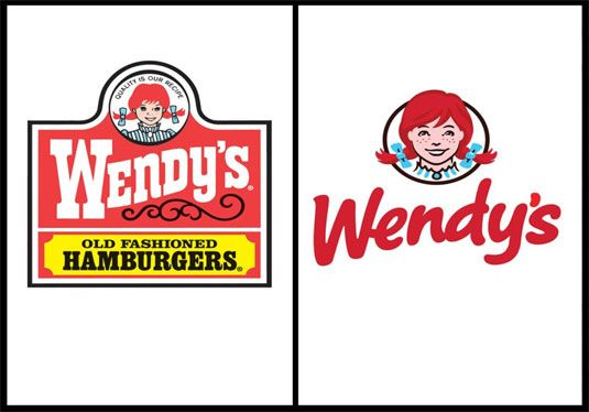 New and old Wendy's logos - http://www.creativebloq.com/graphic-design/pro-guide-logo-design-21221  Hmmmm.