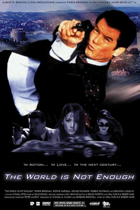 19. James Bond: The World Is Not Enough (1999) 007 played by: Pierce Brosnan Bond Girl: Denise Richards (Dr. Christmas Jones) Directed by: Michael Apted Filming budget: $135,000,000 Time between this and previous release: 2 years