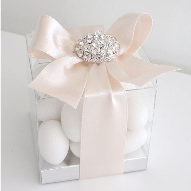 Clear Wedding Favour Bo Custom Made