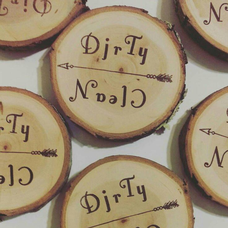 Wood Slice CLEAN/DIRTY Magnet // rustic refrigerator decor //dishwasher magnet by EclecticCabin on Etsy https://www.etsy.com/listing/478936303/wood-slice-cleandirty-magnet-rustic