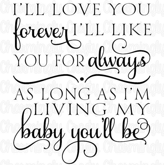 Love You Forever Quote SVG PNG Studio Cuttable by CharminglyCrafty