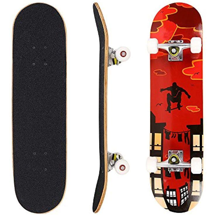 Hikole skateboard 31 x 8 complete pro skateboard
