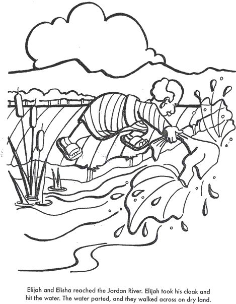 Elijah And The Widow Coloring Page Great Friends Coloring