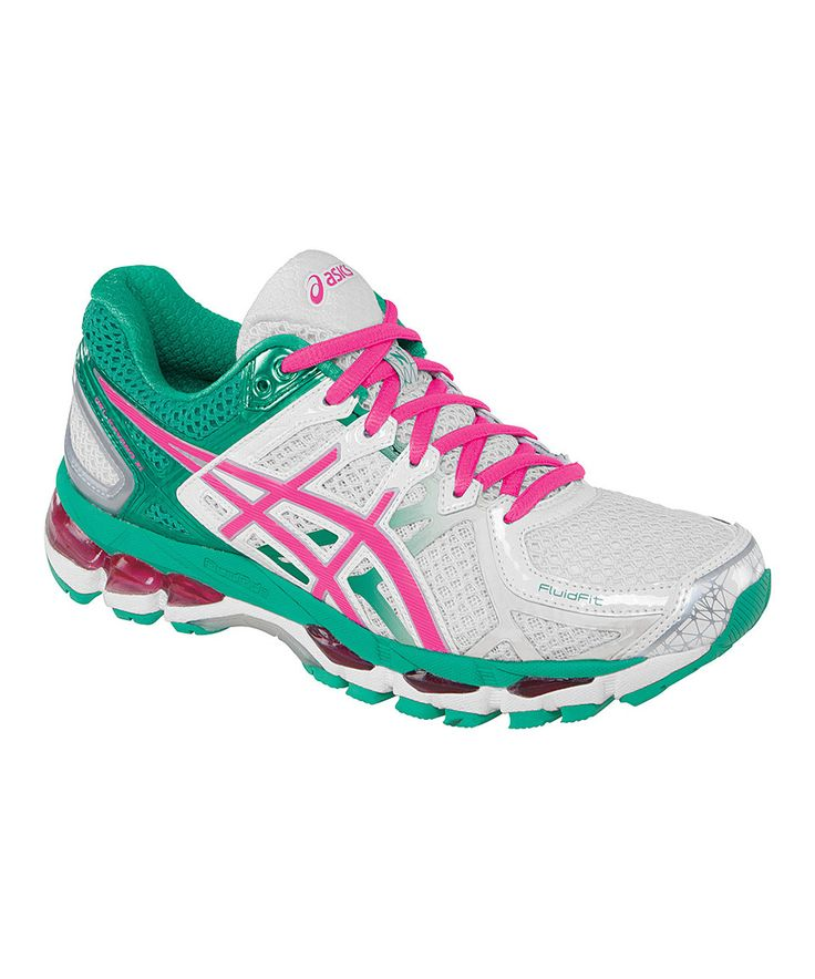 ASICS White & Emerald GEL-Kayano® 21 Running