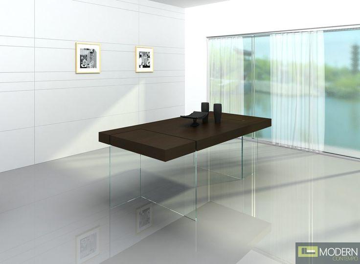 Delightful Aura Modern Floating Dining Table By VIG Furniture   All World Furniture