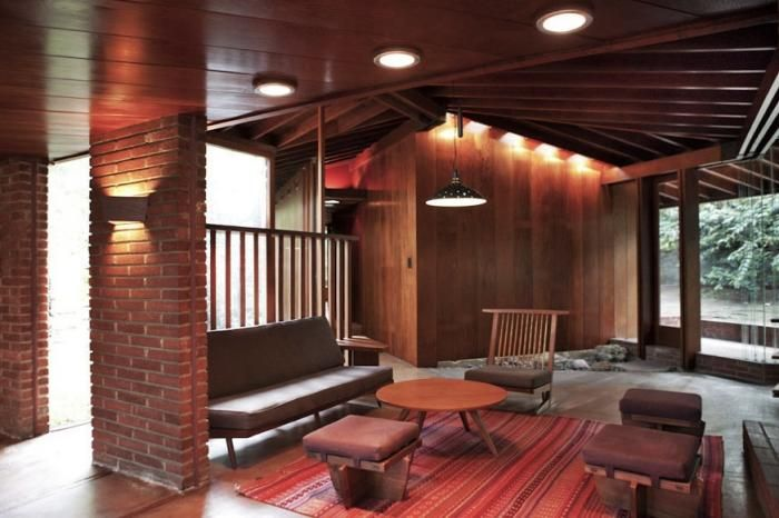 Midcentury Living Room in House Designed by Architect John Lautner, Remodelista