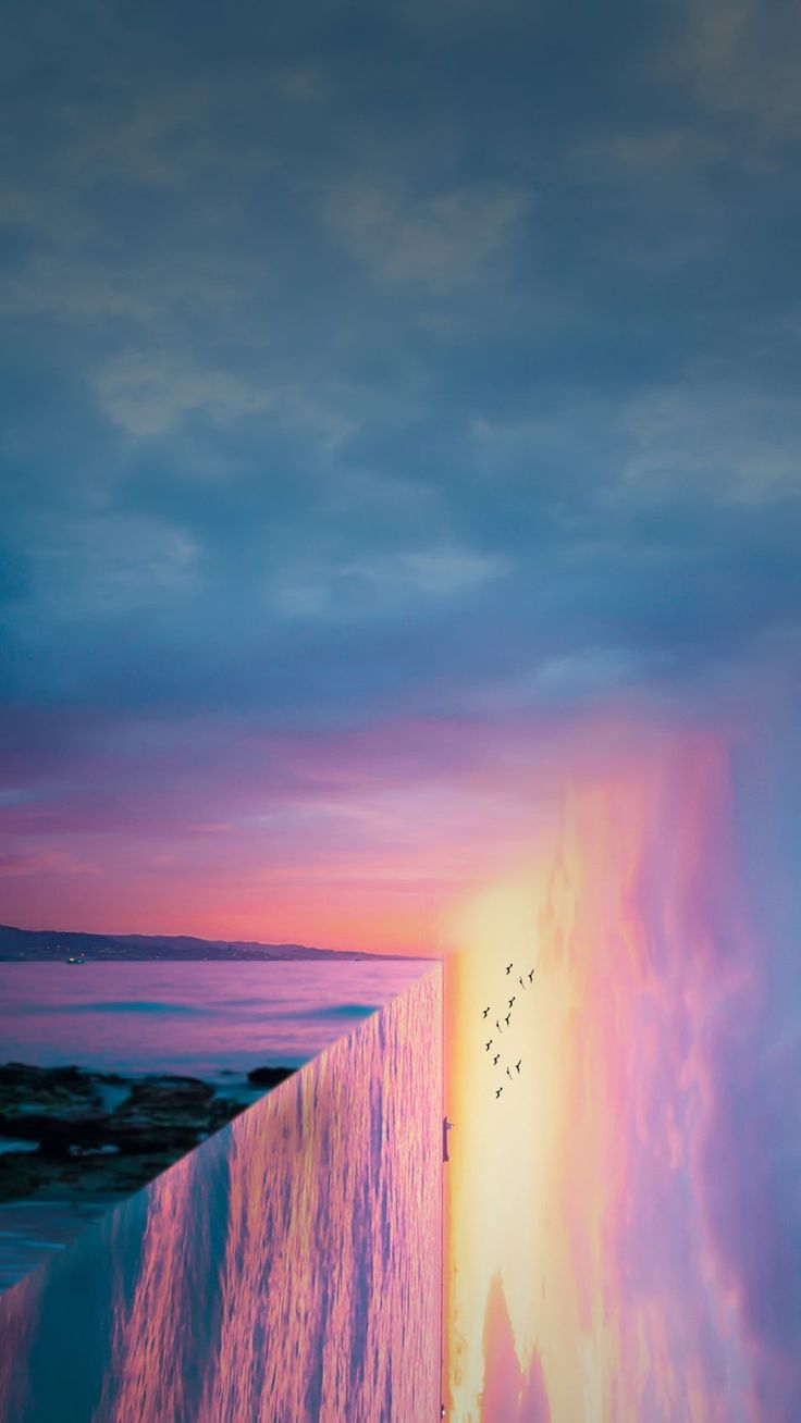 Nice Sunset Sea Reflection Art 1