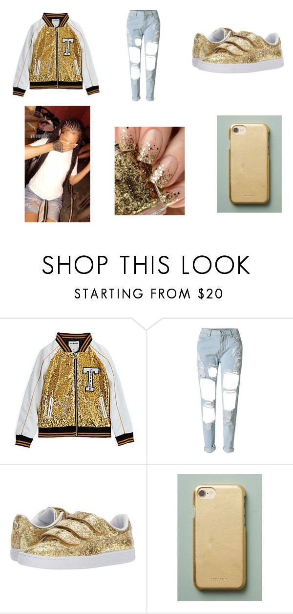 """True Religon Outfit>>>"" by papimiaaaaaa on Polyvore featuring WithChic, Puma and Casetify"