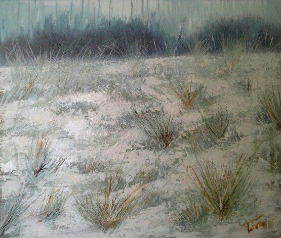 Neve sulle sponde  50x70 cm Luigi Torre painter 2015