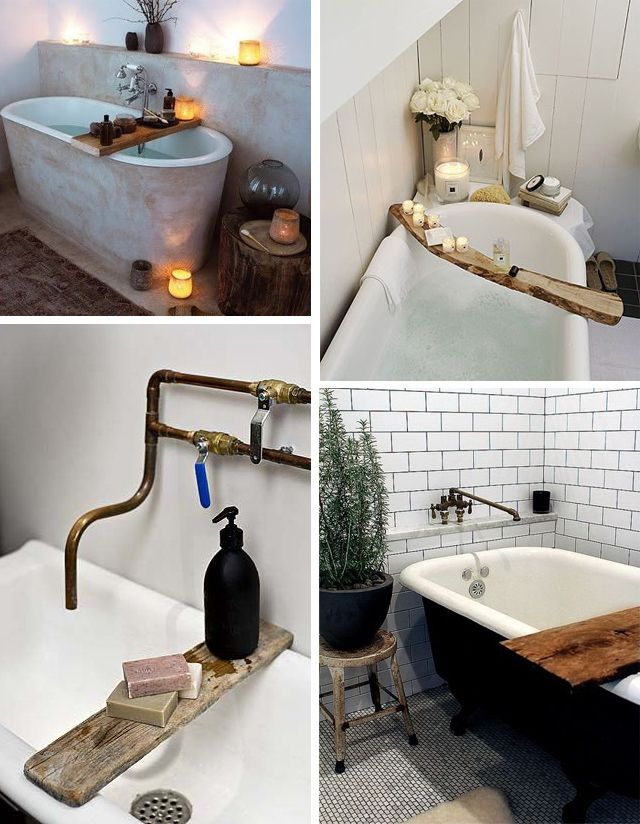 idées déco salle de bain : le pont de baignoire