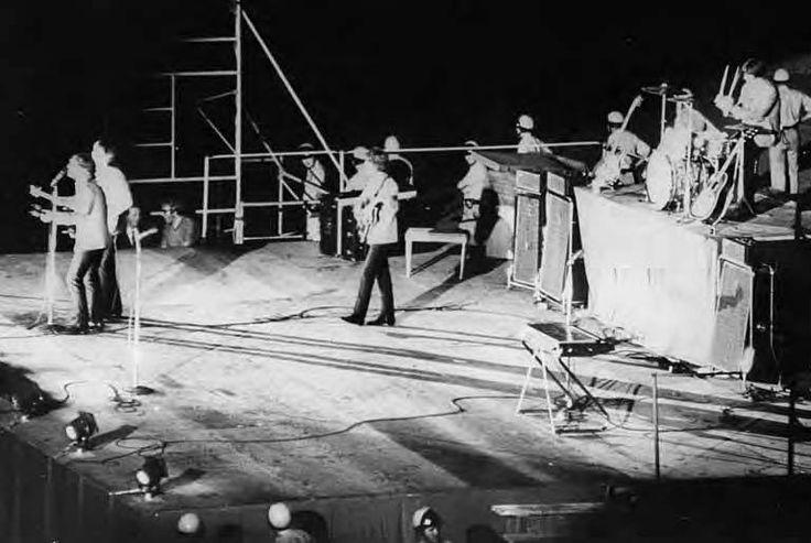Beatles performing at balboa stadium 1965 san diego area