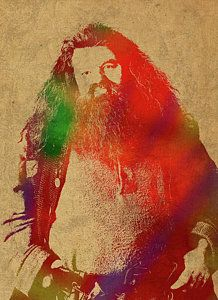 Harry Potter Mixed Media - Hagrid From Harry Potter Watercolor Portrait by Design Turnpike