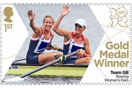Royal Mail stamp first | Olympic rowing gold medal duo Helen Glover & Heather Stanning