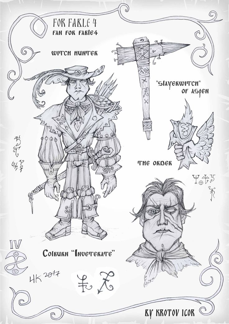 """#FABLE4 #FABLE #FANforFABLE4  Witch hunter Colbern """"Inveterate""""and his """"Slayerwitch"""".  These guys wiped out all the witches of Albion. Колберн """"Отпетый"""" - охотник на ведьм и его «Ведьмодав»из осины. Именно эти парни извели всех ведьм и драконов Альбиона."""