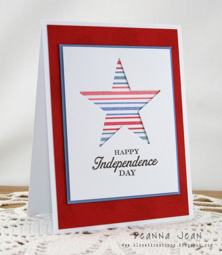 Exceptional 4th Of July Card Making Ideas Part - 10: Simple 4th Of July Card