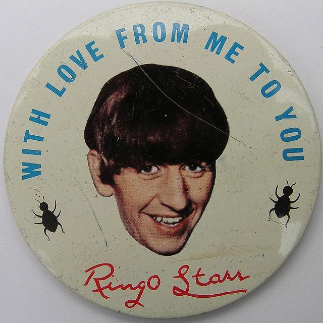 Ringo Starr badge by Leo Reynolds, via Flickr