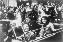 The Presidential limousine just minutes before the assassination