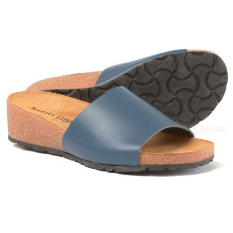 7067703034 Marina Luna Comfort Made in Italy Comfort Band Wedge Slide Sandals (For  Women) - Save 50%