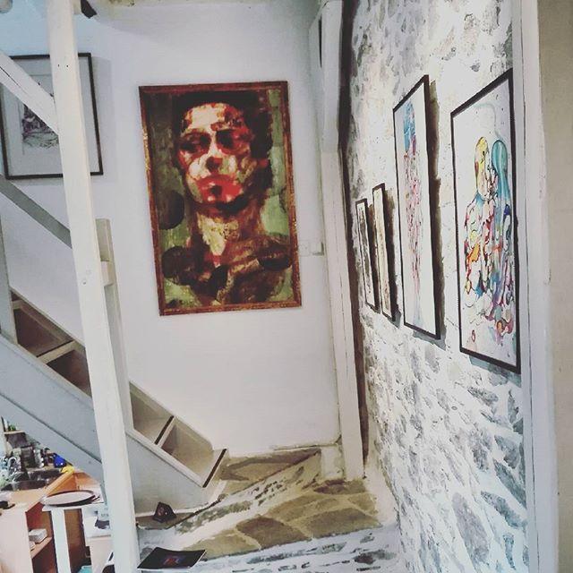 Art Exhibition ,  Makrinitsa , Pelion , Paschalis art house, cafe house , art gallery
