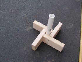 How to build a Cub Scout flag stand